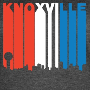 Red White And Blue Knoxville Tennessee Skyline - Women's Vintage Sport T-Shirt