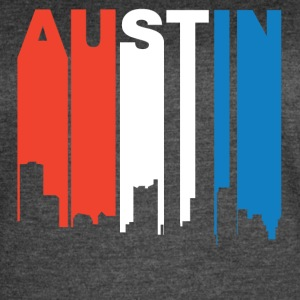 Red White And Blue Austin Texas Skyline - Women's Vintage Sport T-Shirt