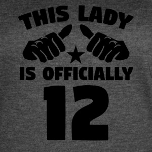 This Lady Is Officially 12 Years Old - Women's Vintage Sport T-Shirt