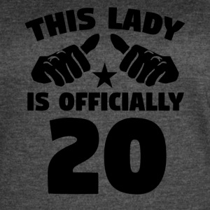 This Lady Is Officially 20 Years Old - Women's Vintage Sport T-Shirt