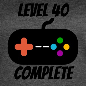 Level 40 Complete 40th Birthday - Women's Vintage Sport T-Shirt
