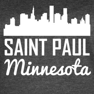 Saint Paul Minnesota Skyline - Women's Vintage Sport T-Shirt
