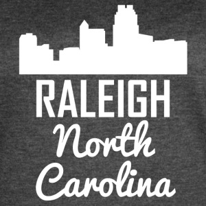 Raleigh North Carolina Skyline - Women's Vintage Sport T-Shirt