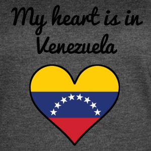 My Heart Is In Venezuela - Women's Vintage Sport T-Shirt