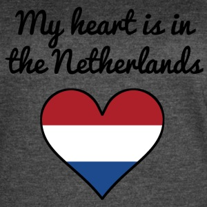 My Heart Is In the Netherlands - Women's Vintage Sport T-Shirt
