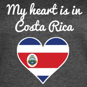 My Heart Is In Costa Rica - Women's Vintage Sport T-Shirt