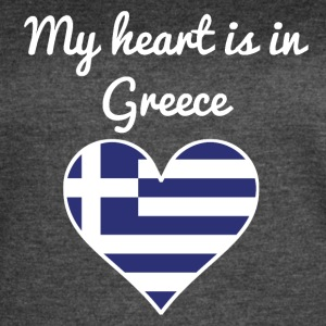 My Heart Is In Greece - Women's Vintage Sport T-Shirt