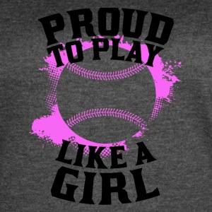 Proud To Play Like A Girl Softball - Women's Vintage Sport T-Shirt