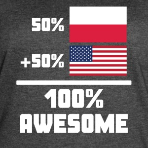 50% Polish 50% American 100% Awesome Funny Flag - Women's Vintage Sport T-Shirt