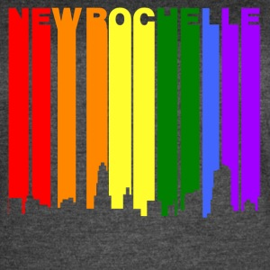 New Rochelle New York Gay Pride Rainbow Skyline - Women's Vintage Sport T-Shirt