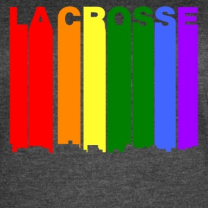 La Crosse Wisconsin Gay Pride Rainbow Skyline - Women's Vintage Sport T-Shirt