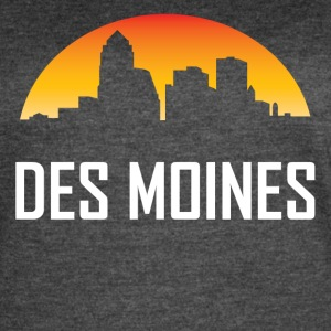 Des Moines Iowa Sunset Skyline - Women's Vintage Sport T-Shirt