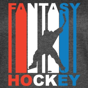 Red White And Blue Fantasy Hockey - Women's Vintage Sport T-Shirt