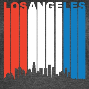 Red White And Blue Los Angeles California Skyline - Women's Vintage Sport T-Shirt