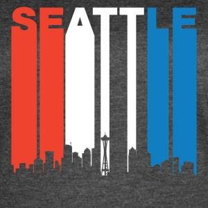 Red White And Blue Seattle Washington Skyline - Women's Vintage Sport T-Shirt