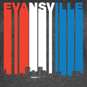 Red White And Blue Evansville Indiana Skyline - Women's Vintage Sport T-Shirt