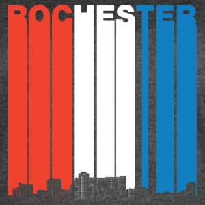 Red White And Blue Rochester Minnesota Skyline - Women's Vintage Sport T-Shirt