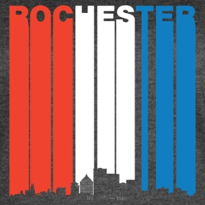 Red White And Blue Rochester New York Skyline - Women's Vintage Sport T-Shirt