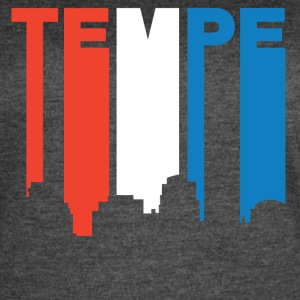 Red White And Blue Tempe Arizona Skyline - Women's Vintage Sport T-Shirt