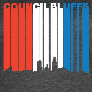 Red White And Blue Council Bluffs Iowa Skyline - Women's Vintage Sport T-Shirt