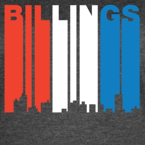 Red White And Blue Billings Montana Skyline - Women's Vintage Sport T-Shirt
