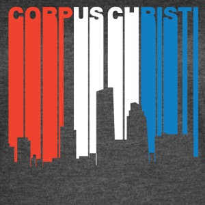 Red White And Blue Corpus Christi Texas Skyline - Women's Vintage Sport T-Shirt