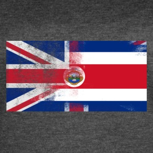 British Costa Rican Half Costa Rica Half UK Flag - Women's Vintage Sport T-Shirt