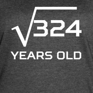 Square Root 324 Funny 18 Years Old 18th Birthday - Women's Vintage Sport T-Shirt