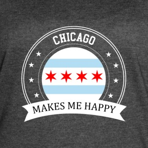Chicago Makes Me Happy - Women's Vintage Sport T-Shirt