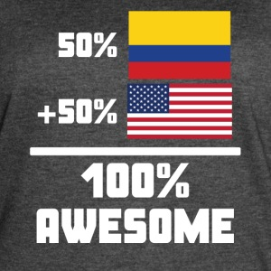 50% Colombian 50% American 100% Awesome Flag - Women's Vintage Sport T-Shirt