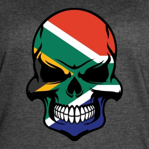 South African Flag Skull Cool South Africa Skull - Women's Vintage Sport T-Shirt