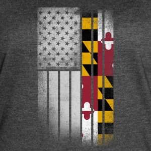 USA Vintage Maryland State Flag - Women's Vintage Sport T-Shirt