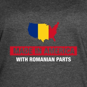 Made In America With Romanian Parts Romania Flag - Women's Vintage Sport T-Shirt
