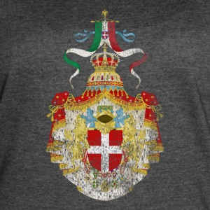 Italian Coat of Arms Italy Symbol - Women's Vintage Sport T-Shirt