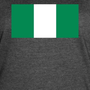 Flag of Nigeria Cool Nigerian Flag - Women's Vintage Sport T-Shirt