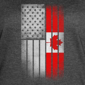 Canadian American Flag - Half Canadian Half Americ - Women's Vintage Sport T-Shirt