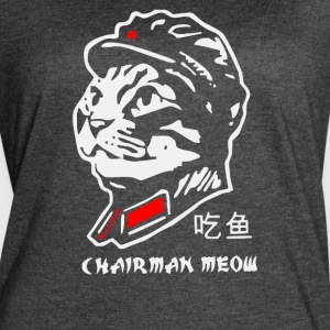 Meow Mao Retro Chinese Dictator - Women's Vintage Sport T-Shirt