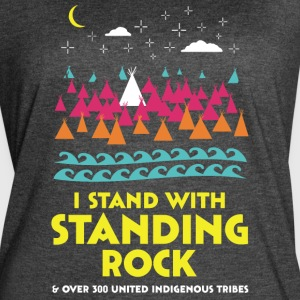 Stand With Standing Rock Shirt - Women's Vintage Sport T-Shirt
