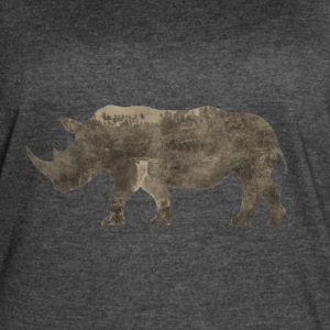 Silhouette Jungle Series Rhino - Women's Vintage Sport T-Shirt