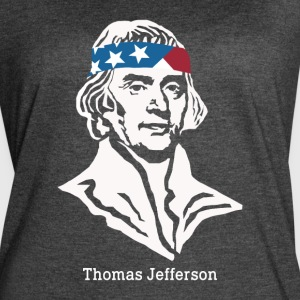 President Thomas Jefferson American Patriot Vintag - Women's Vintage Sport T-Shirt