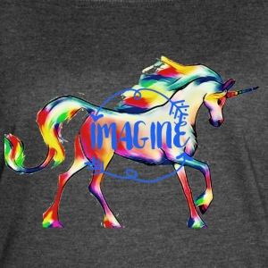 imagine Unicorn - Women's Vintage Sport T-Shirt
