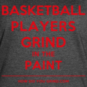 Basketball Players Grind in The Paint Red - Women's Vintage Sport T-Shirt