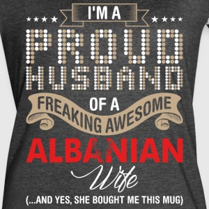 Im A Proud Husband Of A Freaking Awesome Albanian - Women's Vintage Sport T-Shirt