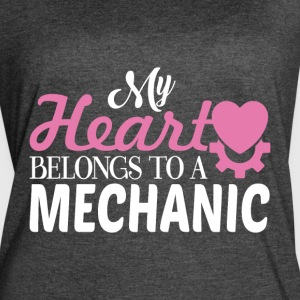 My Heart Belongs To A Mechanic T Shirt - Women's Vintage Sport T-Shirt
