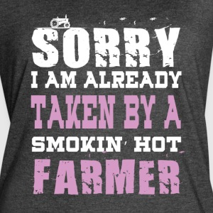 I Am Already Taken By A Smokin' Hot Farmer TShirt - Women's Vintage Sport T-Shirt