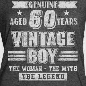 Genuine Aged 60 Years Vintage Boy T Shirt - Women's Vintage Sport T-Shirt
