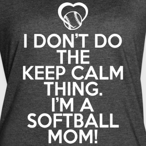 I'm A Softball Mom T Shirt - Women's Vintage Sport T-Shirt