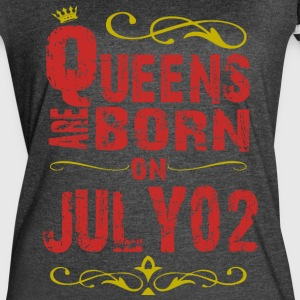 Queens are born on July 02 - Women's Vintage Sport T-Shirt