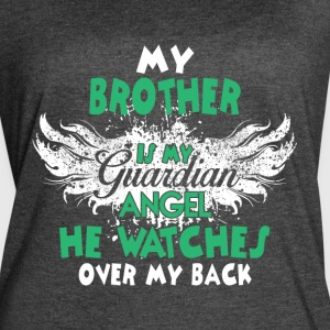 My Brother Is My Guardian Angel T Shirt - Women's Vintage Sport T-Shirt