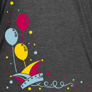 Carnival hat with balloons, streamer and confetti. - Women's Vintage Sport T-Shirt